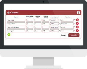 Courses Registration Management Solution course management